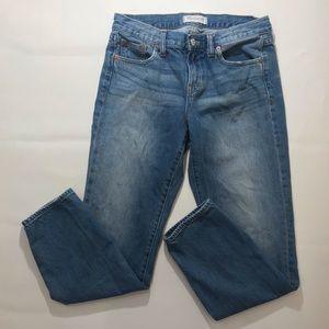 "Madewell 9"" rise Medium Wash Straight Leg"